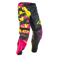 Fly Racing Kinetic Outlaw Neon Pink/Hi-Vis Pants