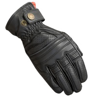 Merlin Mens Black Bickford Leather Motorcycle Gloves