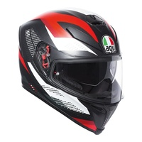 AGV K5 Marble Black/White/Red Helmet