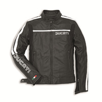 Ducati 80s Leather Black Jacket