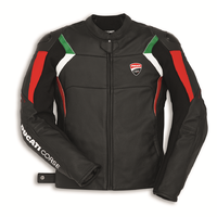 Ducati Corse C3 Mens Black Leather Jacket