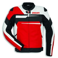 Ducati Mens Standard Black/White/Red Speed Evo C1 Leather Jacket