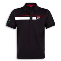 Ducati Corse Speed Mens Black Polo Shirt