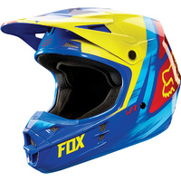 Fox V1 Yellow/Blue Vandal 2X-Large Helmet