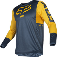 Fox 180 PRZM Navy/Yellow Jersey