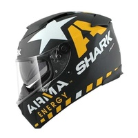 Shark Speed-R MXV Redding Matte Black Yellow White Helmet [Size:Small]