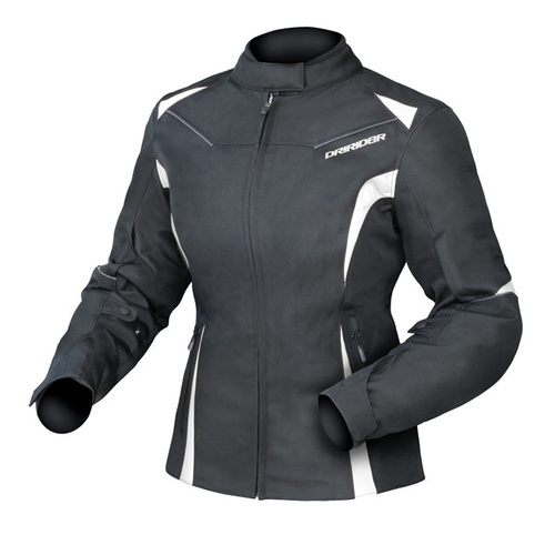 Dririder Ladies Jewel 2 Black/White Jacket [Size:8]