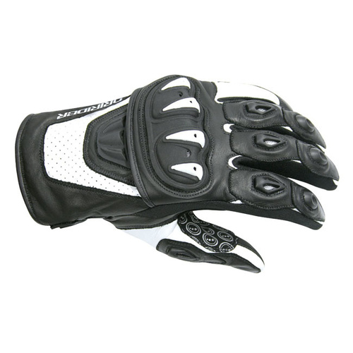 Dririder Stealth Summer White/Black Gloves [Size:4X-Large]