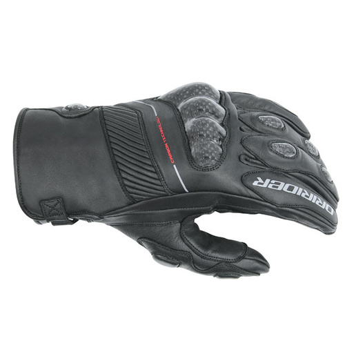 Dririder Speed 2 All Seasons Short Cuff Black Gloves [Size:Small]