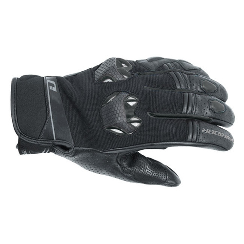 Dririder Fusion Black Summer Gloves [Size:Medium]