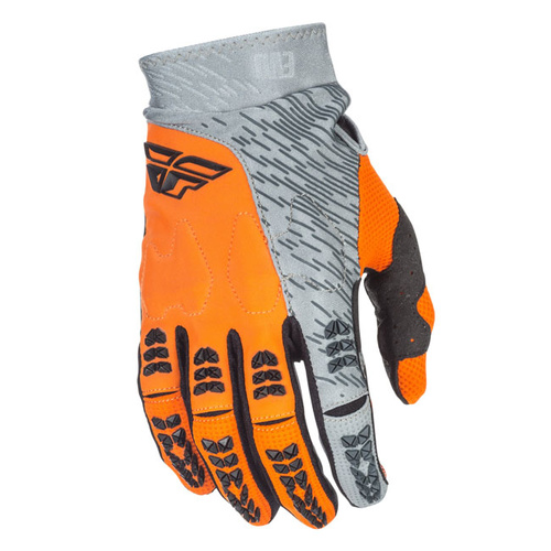 Fly Racing Evolution 2.0 Grey/Orange Gloves [Size:Small]